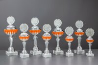 Pokal Raphaela | orange/silber