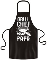 Grill-Schürze mit tollem Frontprin Grill Chef Papa...